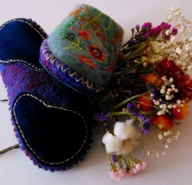 Тапочки из натуральной шерсти ручной работы
