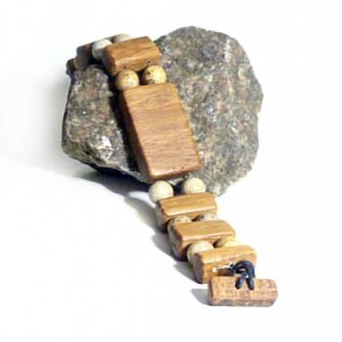 Браслет магнитный из пальмового дерева. ручной работы