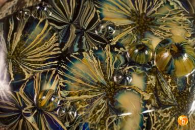 """Подвеска из стекла """"Подводные цветы 2"""" ручной работы"""