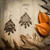 серьги в средневековом стиле из натуральной кожи