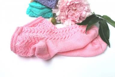 вязанные носочки ажурные ручной работы