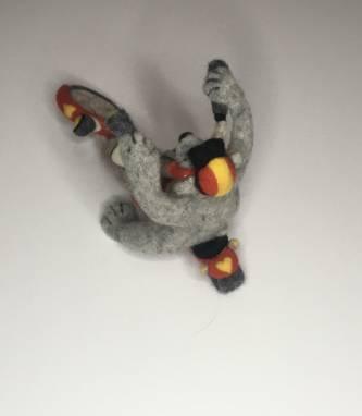 Мягкая игрушка Мишка на мотоцикле ручной работы