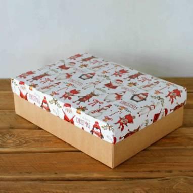 Коробка для подарков новый год ручной работы
