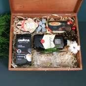 Большой подарочный набор в деревянной коробке