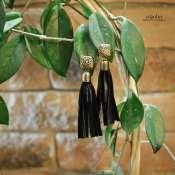 серьги-кисточки из натуральной кожи