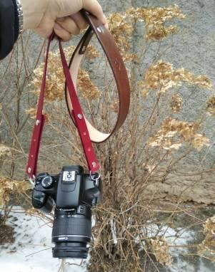 Ремень для фотокамеры кожаный ручной работы