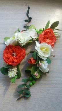 ветки свадебные с пионовидной розой ручной работы