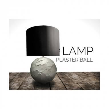 Table lamp (plaster ball)#12 ручной работы