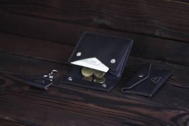 Карманный кошелек из кожи ручной работы