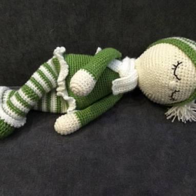 Вязаная кукла Сплюша  ручной работы