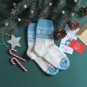 вязанные носки с узором женские