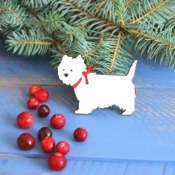 """магнитик из дерева """"Собака"""" символ 2018 года"""
