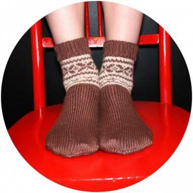 Носки вязанные с узором ручной работы