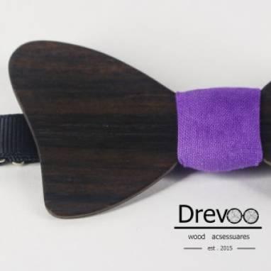 Деревянная галстук бабочки регулируемая  ручной работы