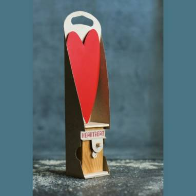 Деревянная механическая игрушка ручной работы