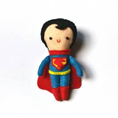 Супермен. Магнит из фетра. Серия Супергерои ручной работы