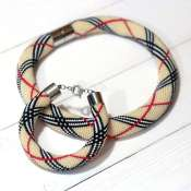 Комплект украшений колье и браслет из бисера