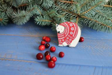 подарочный набор новогодний с варежками  ручной работы