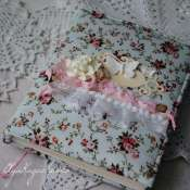 Женский дневник в текстильной обложке