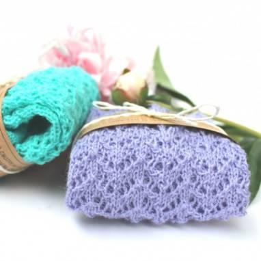 Носочки вязанные ажурные ручной работы