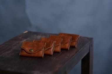 Монетница RIGI из натуральной кожи ручной работы