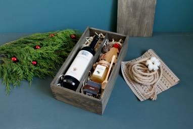 VIP подарок в деревянной коробке ручной работы
