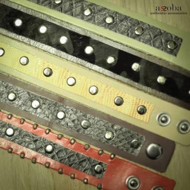 Женский браслет из питона  ручной работы