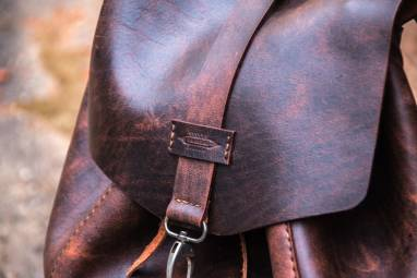 Рюкзак из натуральной кожи ручной работы
