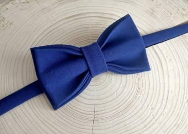 Синяя мужская бабочка ручной работы