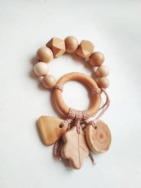 Экобусы деревянные из можжевеловых бусин ручной работы