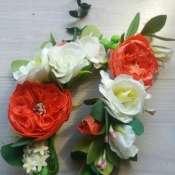 ветки свадебные с пионовидной розой
