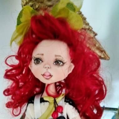 текстильная сувенирная куколка ручной работы