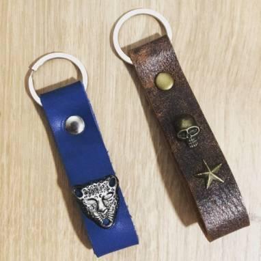 Брелок для ключей из натуральной кожи ручной работы