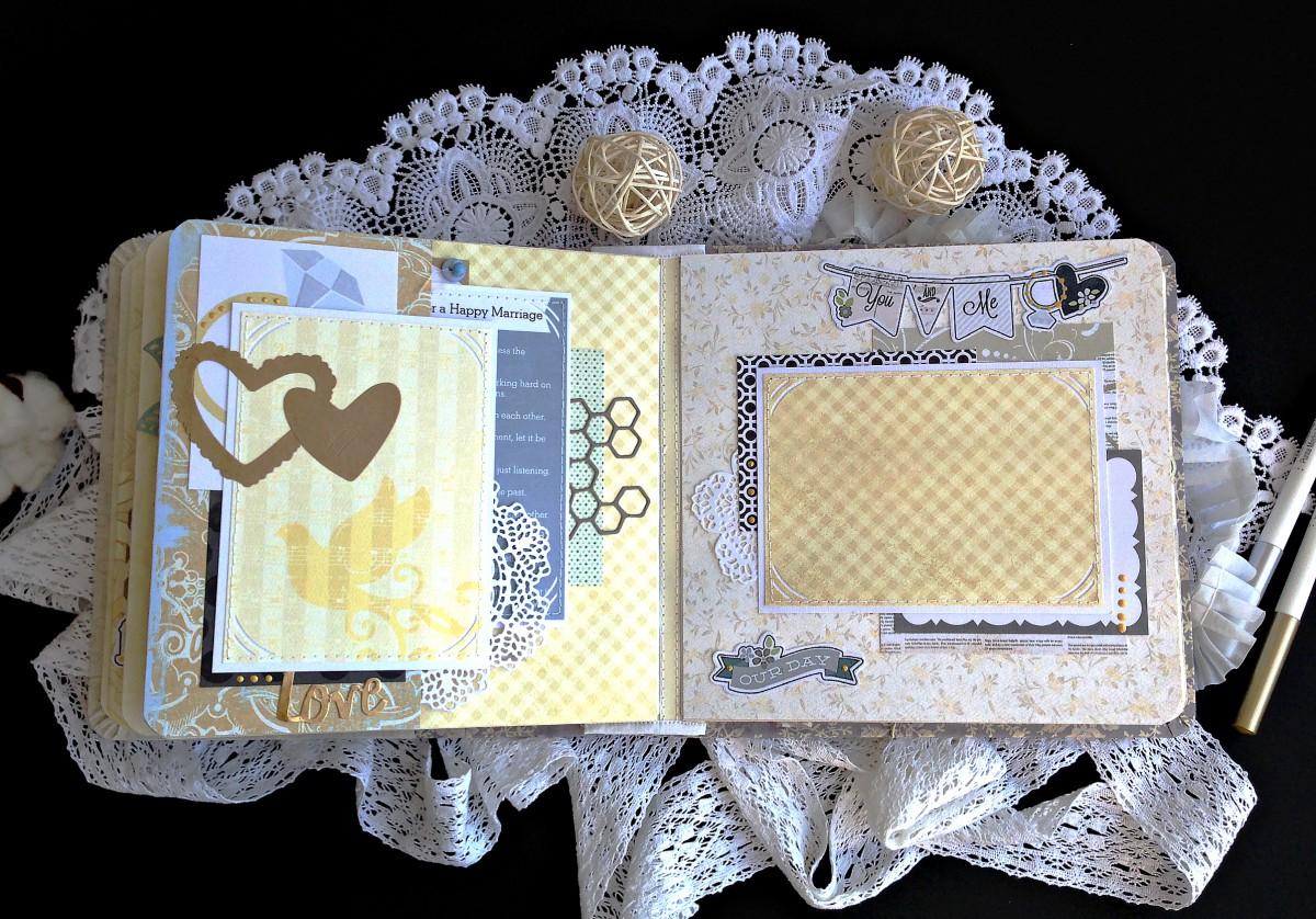 Свадебный фотоальбом  пошагово